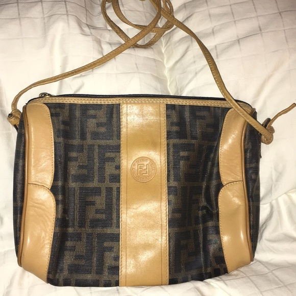 Fendi Handbags - Vintage Authentic FENDI Zucca FF Tan Brown Logo